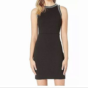 Michael Kors Women's Black Sheath Dress NWT SZ L